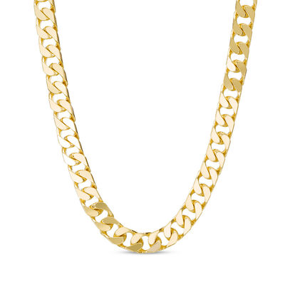 Solid Curb Chain Necklace In 10k Gold