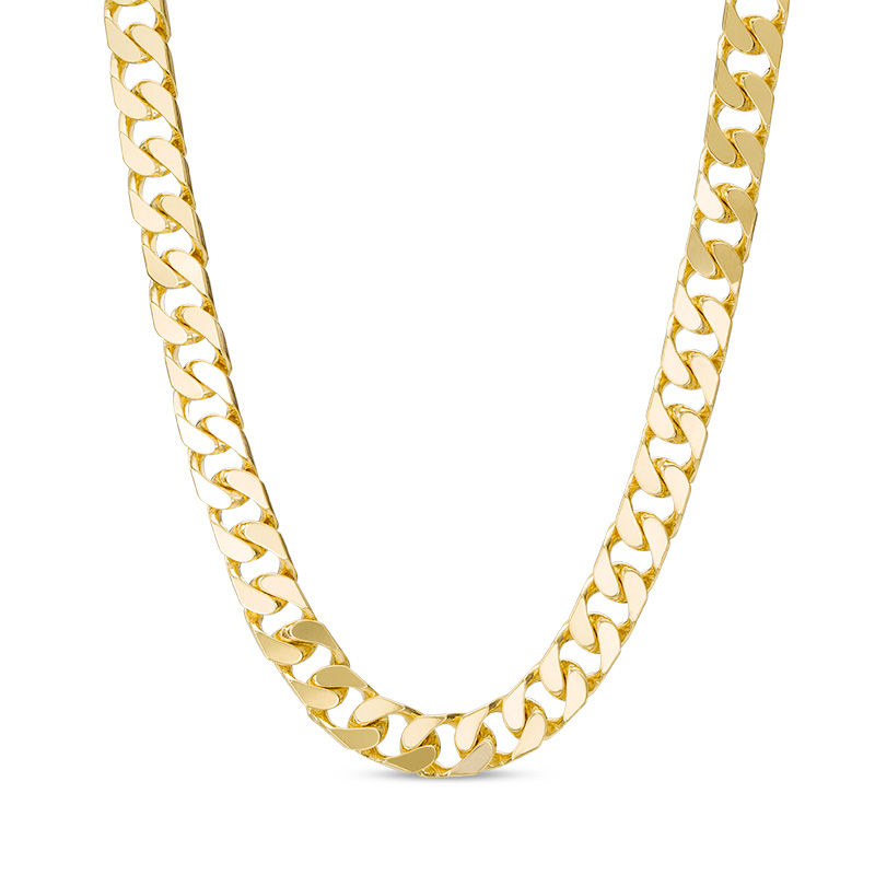 male length necklace itm width jewelry curb gold chain mm steel
