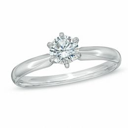 1/2 CT. Diamond Solitaire Engagement Ring in 14K White Gold