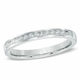 1/4 CT. T.W. Princess-Cut Diamond Wedding Band in 14K White Gold
