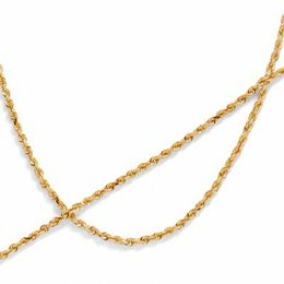 Men's 10K Gold Rope Chain Necklace and Bracelet Set