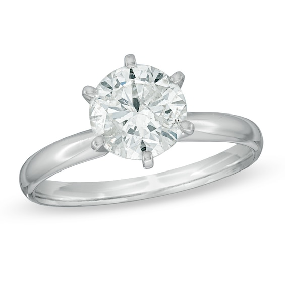 Details about  /2 Carat Round Cut Diamond Solitaire Engagement Ring 14K White Gold Finish