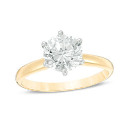 1-1/2 CT. Certified Diamond Solitaire Engagement Ring in 14K Gold (I/I2)