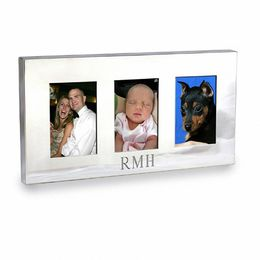 "Silver-Plated 2"" x 3"" Engraved Picture Frame (2 Lines)"