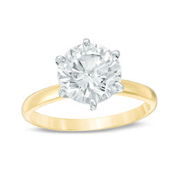 3 CT. Certified Diamond Solitaire Engagement Ring in 14K Gold (J/I2)