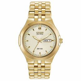 Men's Citizen Eco-Drive® Corso Gold-Tone Watch with Champagne Dial (Model: BM8402-54P)