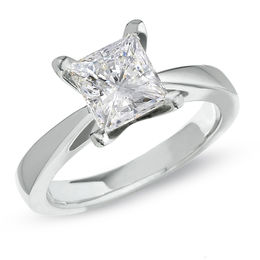Celebration Lux® 2 CT. Princess-Cut Diamond Solitaire Engagement Ring in 14K White Gold (I/SI2)