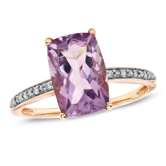 Zales Amethyst Ring Rose Gold