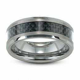 Men's 8.0mm Comfort Fit Tungsten and Carbon Fiber Wedding Band