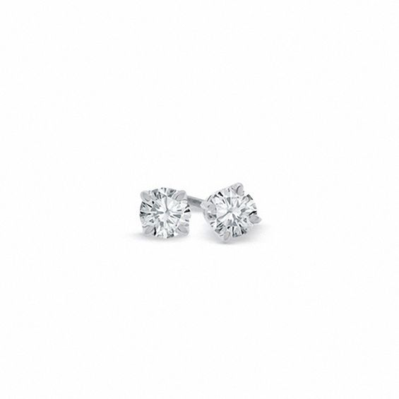 1/4 CT. T.w. Certified Diamond Solitaire Stud Earrings in Platinum (I/si2)