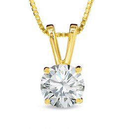 1/2 CT. Certified Diamond Solitaire Pendant in 18K Gold (I/SI2)