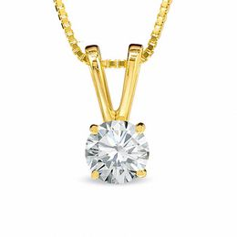 1/4 CT. Certified Diamond Solitaire Pendant in 18K Gold (I/SI2)