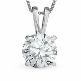 1 CT. Certified Diamond Solitaire Pendant in 18K White Gold (I/VS2)