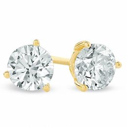 1/4 CT. T.W. Certified Diamond Solitaire Stud Earrings in 18K Gold (I/SI2)