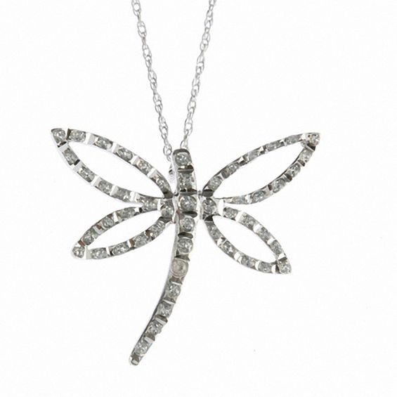 Diamond fascination dragonfly pendant in 14k white gold online diamond fascination dragonfly pendant in 14k white gold aloadofball Gallery