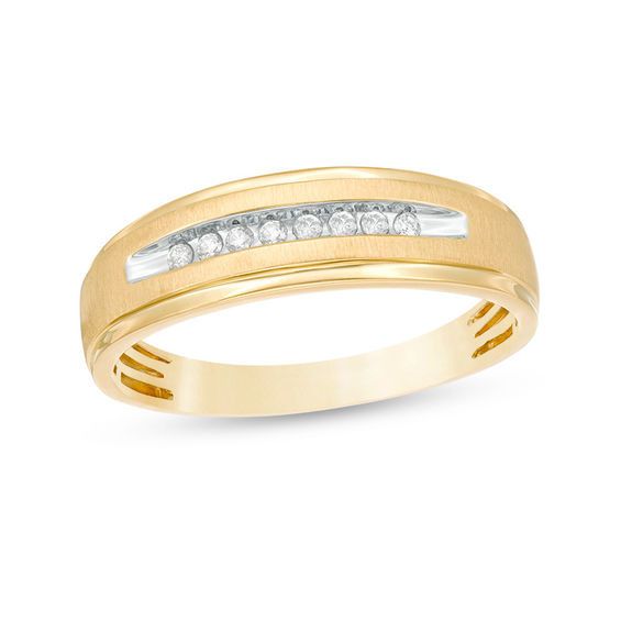 Mens 110 CT TW Diamond Comfort Fit Wedding Band in 10K Gold