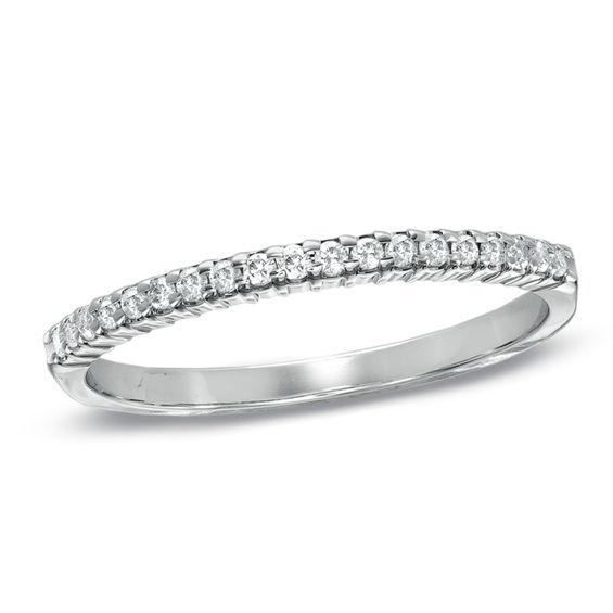 T W Diamond Wedding Band In 10k White Gold