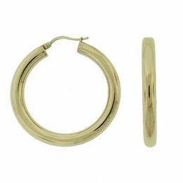 40mm Polished Yellow IP Stainless Steel Hoop Earrings