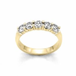 1/2 CT. T.W. Diamond Five Stone Band in 10K Gold