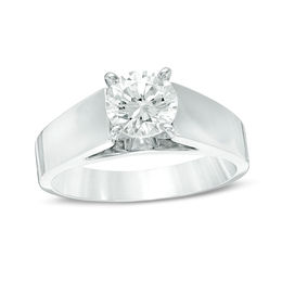 1-1/5 CT. Certified Diamond Solitaire Engagement Ring in 14K White Gold (J/I2)