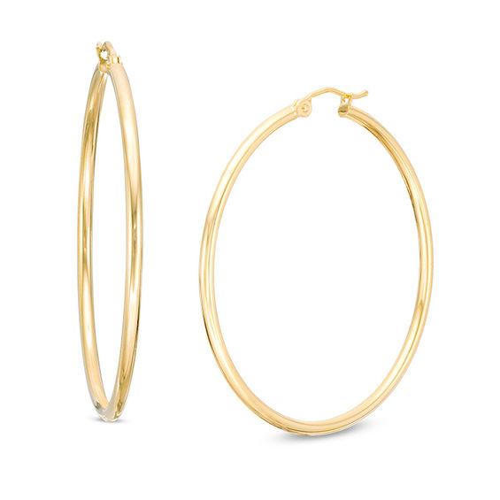 7f627f851 Curved Oval Hoop Earrings in 14K Rose Gold | Rose Gold Earrings ...