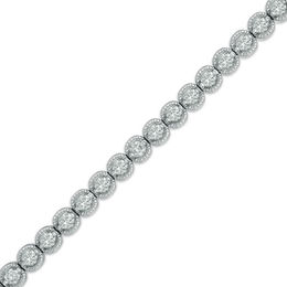 2 CT. T.W. Diamond Tennis Bracelet in 14K White Gold (I/I2)