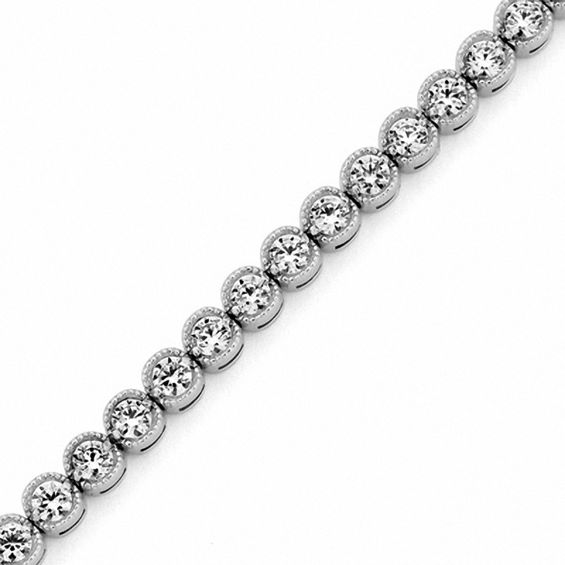 T W Diamond Tennis Bracelet In 14k White Gold I I2