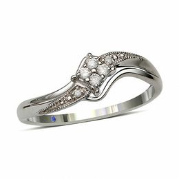 Cherished Promise Collection™ 1/20 CT. T.W. Diamond Splendid Promise Ring in Sterling Silver - Size 6