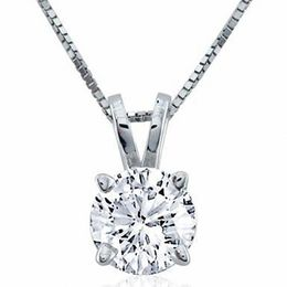 3/4 CT. Certified Diamond Solitaire Pendant in Platinum (I/SI2)