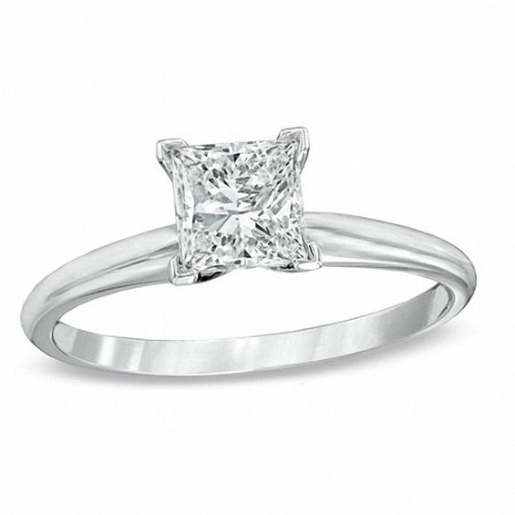 1 ct princess cut diamond solitaire engagement ring in for 1 ct wedding ring