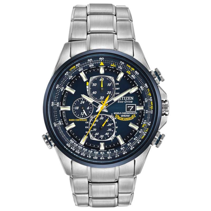 893fe0385c76c Men s Citizen Eco-Drive® Blue Angels World Chronograph A-T Watch with Blue  Dial (