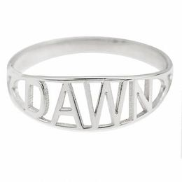 Nameplate Ring in Sterling Silver (10 Characters)