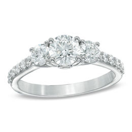 Celebration Lux® 1-1/2 CT. T.W. Diamond Three Stone Ring in 14K White Gold (I/SI2)