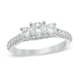Celebration Grand® 1-1/4 CT. T.W. Diamond Three Stone Ring in 14K White Gold (I-J/I1)