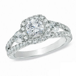 Celebration Grand® 1-5/8 CT. T.W. Diamond Engagement Ring in 14K White Gold (I/I1)