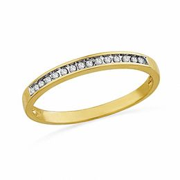 1/10 CT. T.W. Diamond Anniversary Band in 10K Gold