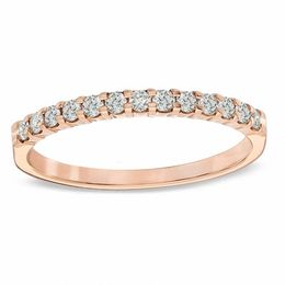 1/4 CT. T.W. Diamond Anniversary Band in 14K Rose Gold