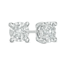 1/2 CT. T.W. Diamond Solitaire Stud Earrings in 10K White Gold
