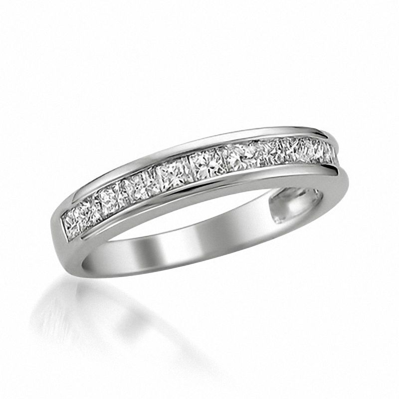 curved ring wedding band mayfair bands eternity diamond round row platinum