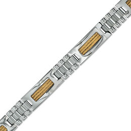 Men's Shaquille O'Neal ID Bracelet in Two-Tone Stainless Steel - 8.5""