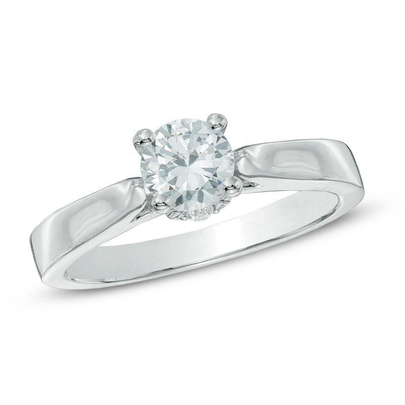 a6e3ef26d01c6 7/8 CT. T.W. Diamond Engagement Ring in 14K White Gold|Zales