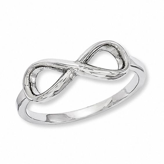 Infinity Ring in Sterling Silver Infinity Collections
