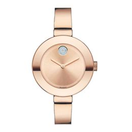 Ladies' Movado Bold® Crystal Rose-Tone Bangle Watch (Model: 3600202)