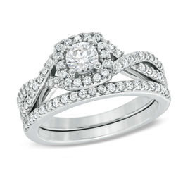 Celebration Grand® 1 CT. T.W. Diamond Frame Bridal Set in 14K White Gold (H-I/I1)