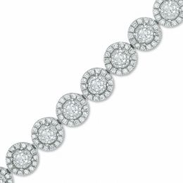 3 CT. T.W. Diamond Frame Line Bracelet in 10K White Gold