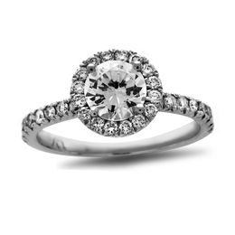 3/4 CT. T.W. Certified Diamond Frame Engagement Ring in Platinum (H/SI2)