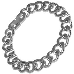 Men's Stainless Steel Large Curb Link Bracelet - 8.5""