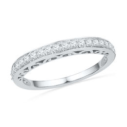 1/4 CT. T.W. Diamond Anniversary Band in 10K White Gold