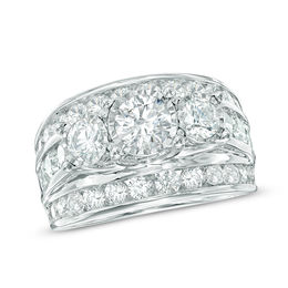 4 CT. T.W. Diamond Past Present Future® Ring in 14K White Gold