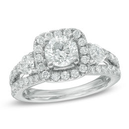 Celebration Grand® 2-1/5 CT. T.W. Diamond Three Stone Engagement Ring in 14K White Gold (I/I1)